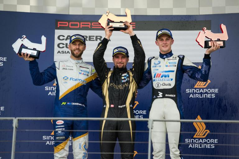Ragginger inches closer to 2017 champion title after wet win in Round 10 at Singapore